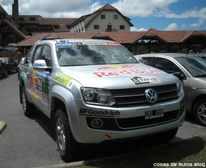 La Volkswagen Amarok en Bariloche antes de su presentación a la prensa - Foto: Cosas de Autos