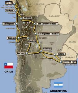 Recorrido del Dakar 2011