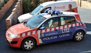 Renault Megane de la policía de Valdemorillo