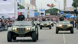 El Gaucho en la inaugiración del desfile militar por el Bicentenario.