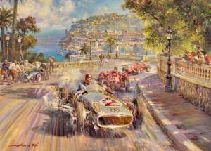 Fangio por Alfredo de la María.