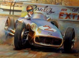 Fangio por José María Villafuerte.