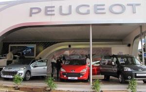 El stand de Peugeot en La Rural.