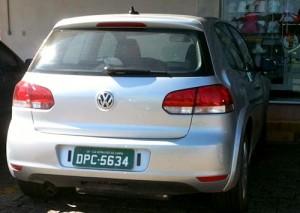 Mula de VW Golf fotografiada en Brasil - Foto: Interpress.