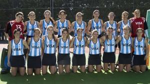 El equipo argentino femenino de hockey sobre césped 2010.