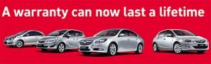 Vauxhall garantía de por vida