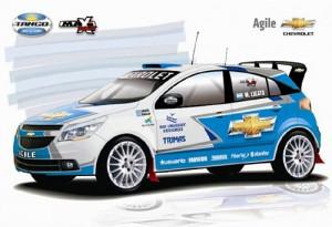 Chevrolet Agile de Maxi Rally - Imagen: Tango Rally Team