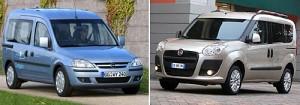 El Opel Combo y el Fiat Dobló