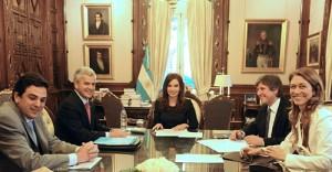 Sergio Rocha, Cristina Fernández, Amado Boudo y Débora Giorgi.