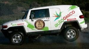 El FJ Cruiser de Ignacio Casale Silva que correrá el Dakar 2011.