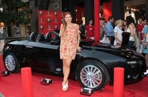Carolina Belcastro en la presentación de la colección Alfa Romeo by La Toscana