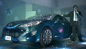 Pablo Averame en la fiesta de fin de año y presentación del Peugeot RCZ