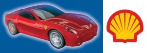 Promo Shell Ferrari con velocidad y sonido de motor.