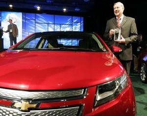 Chevrolet Volt ganó el Auto del Año 2011 en el Salón de Detroit.