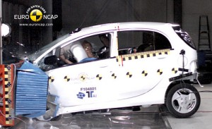 Mitsubishi i-MiEV en los ensayos de Euro NCAP