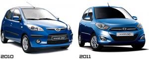 Hyundai i10 2010 y el Hyundai i10 2011
