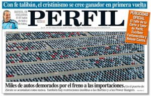 Tapa del diario Perfil del 5 de marzo de 2011