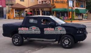 Ford Ranger 2012 fotografiada en Brasil - Noticias Automotivas