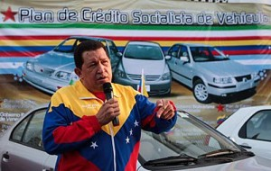Chavez entrega autos populares hechos en Argentina