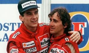 Senna y Prost en el GP de Autralia de 1988