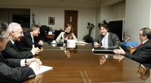 Cristiano Rattazzi y directivos de Fiat Argentina en el Ministerio de Industria.