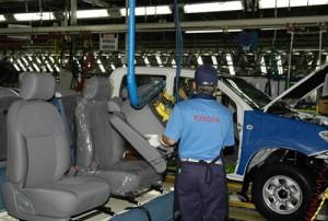 Línea de Hilux en la planta de Toyota de Zárate
