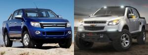 Ford Ranger y Chevrolet Colorado Rally Concept