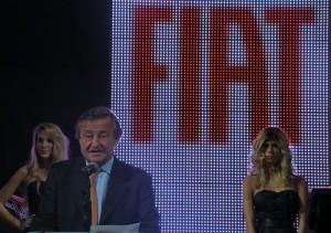 Rattazzi en el stand de Fiat