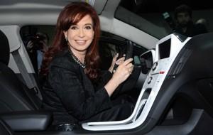 Cristina Fernández y el Volt en Olivos.
