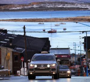 La Volkswagen Touareg de la TDI Panamericana en Ushuaia.