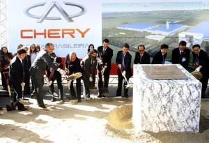 Chery puso en Jacareí, Brasil la piedra fundamental de su primera fábrica fuera de China.