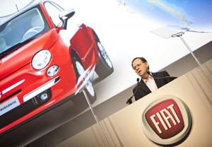 Cledorvino Bellini, CEO de Fiat Automóviles en el evento del 500 en Miami
