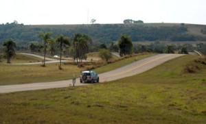 Una vista de la exigente pista de pruebas de Ford en Tatuí.