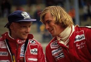 Niki Lauda y James Hunt en la temporada 1975.