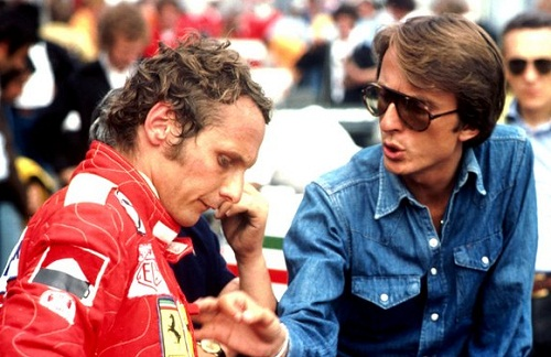 Niki Lauda and Luca Di Montezemolo en 1975. Foto: Sutton Images