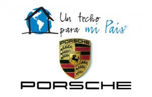 Porsche junto a Un techo para mi país