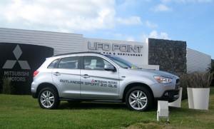 Mitsubishi Outlander Sport en el UFO Point de Pinamar