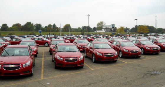 Chevrolet Cruze en la planta de Michigan.