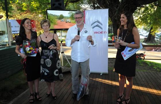 Presentación del Raid de la Cordillera 2012 con Philippe Lasson, de TSF, y Valentina Solari de Citroën Argentina.