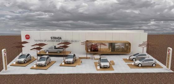 Planta del stand de Fiat en ExpoAgro 2012