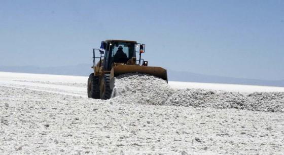 Extracción de sal en Bolivia.
