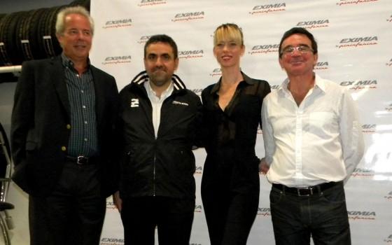 Miguel Canay, Director Comercial Fate - Guillermo Pustilnik, Presidente de Ruedas Argentinas - Nicole Neumann y Javier Madanes Quintanilla, Presidente Fate.