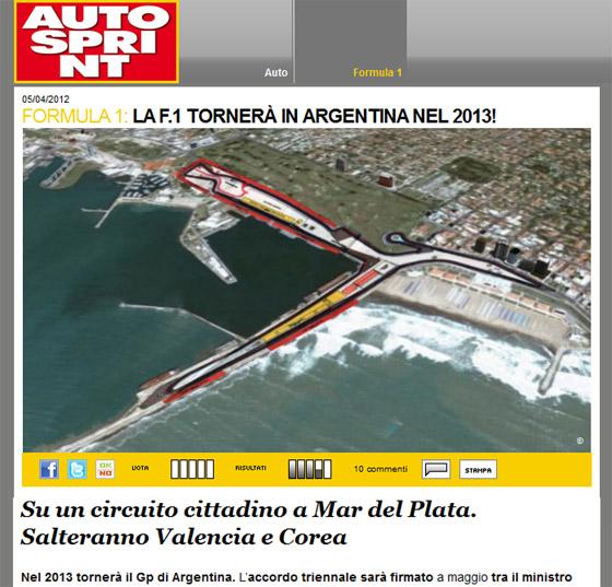 Autosprint dice que en mayo Argentina tendrá su Gran Premio; reemplazaría a Corea