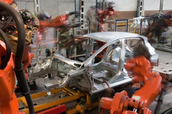 Línea de producción del Peugeot 308 en El Palomar.