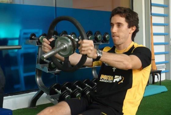 Esteban Guerrieri entrenando en las intalaciones de Ácumen.