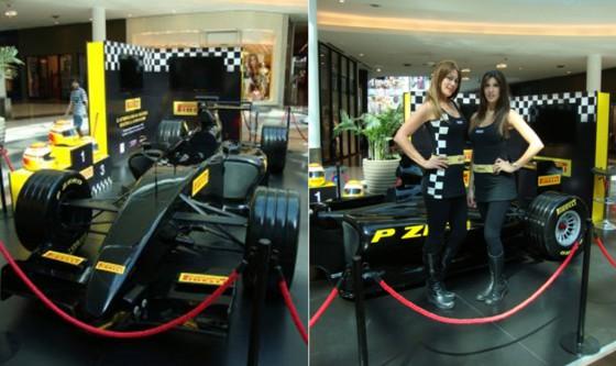 """Simulador del """"Pirelli F1 Experience"""""""