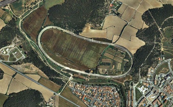 El circuito de Terramar en una vista satelital.