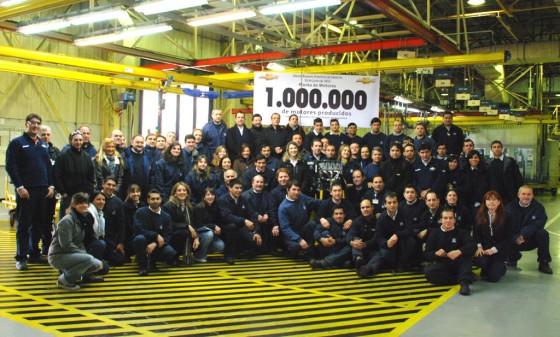 GM Argentina produce el motor un millón.