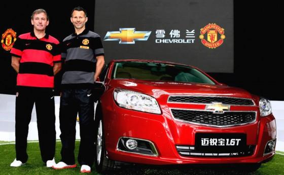 Autos y fútbol: Chevrolet se convirtió en partner del Manchester United
