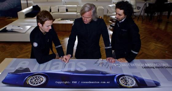 Por primera vez, Ditsch accedió a mostrar el diseño de su súper deportivo.